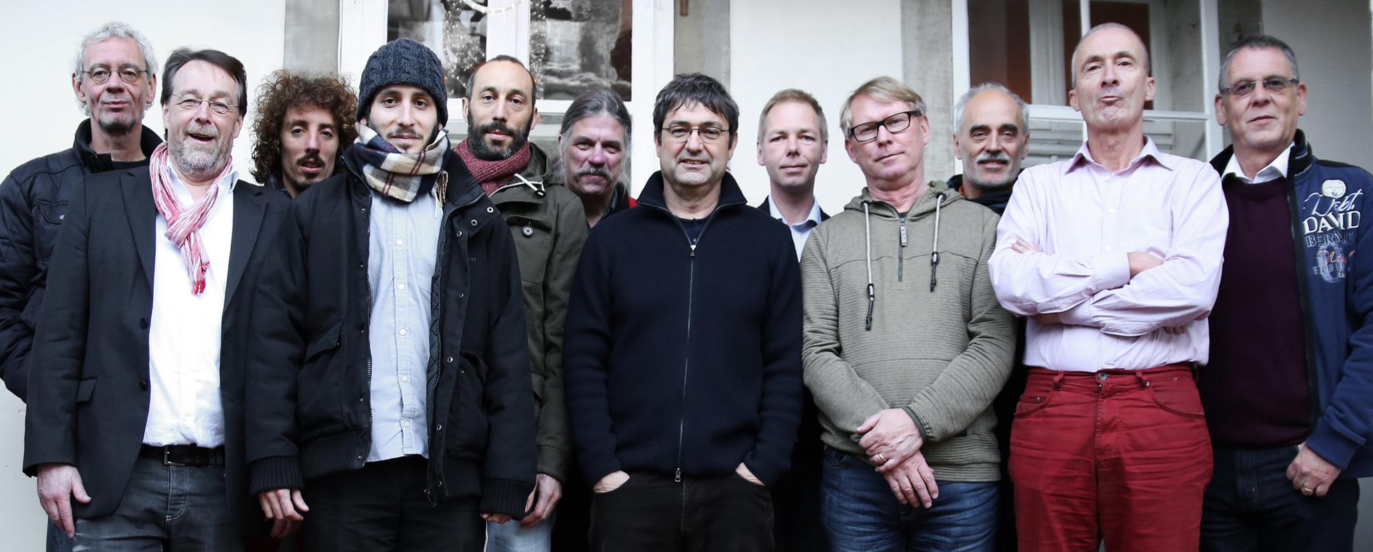 Gruppenfoto Internationale Männerzeitung im schweizerischen Burgdorf