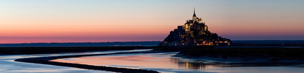 Mont Saint Michel im Abendlicht