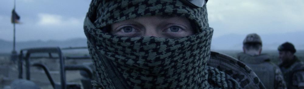 Vermummter Soldat in Afghanistan