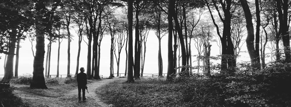 Ein Mann im Wald