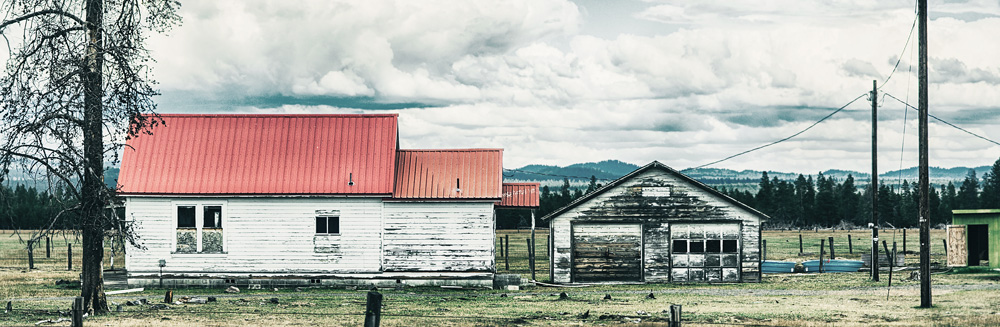 Häuser in Landschaft