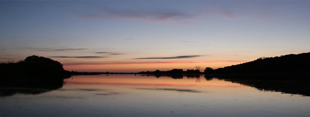 Abendhimmel über der Oder